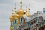Gold onion domes on the chapel at Catherine's Palace