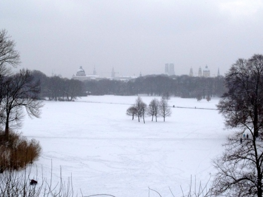 A View Of The Englischer Garten From The Monopteros