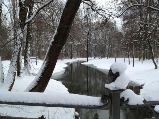 One Of The Rivers In The Englischer Garten