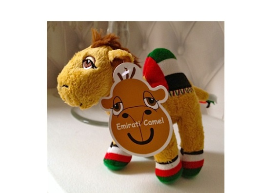Enzo's new toy from the Camel Store at the Dubai Mall