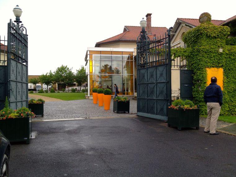 The Entrance To Veuve Cliquot In Reims