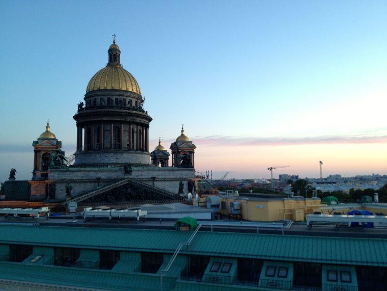 Saint Isaac Cathedral At Midnight - June 2012