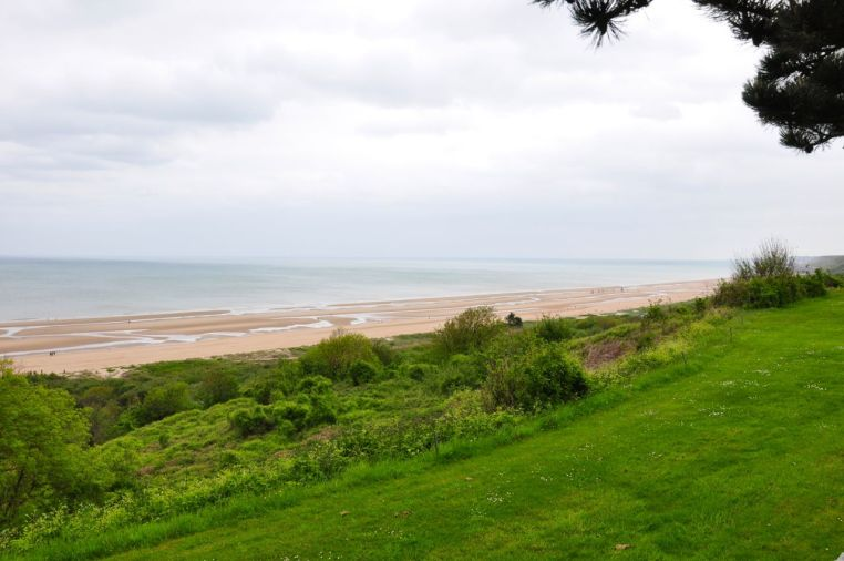 Omaha Beach Memorial & Cemetery - Looking Out To The Ocean