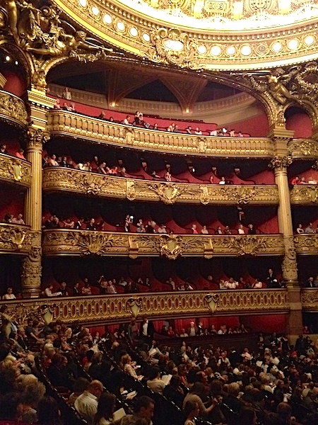 Paris opera auditorium